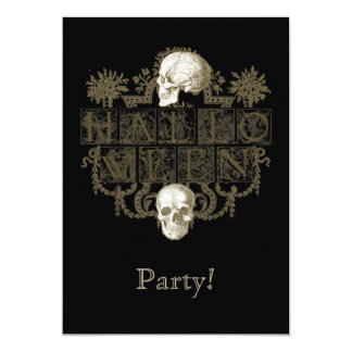 Vintage Halloween 5x7 Paper Invitation Card