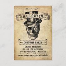 Vintage Halloween Invitation - Costume Party