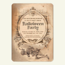 Vintage Halloween Invitation Victorian Gothic