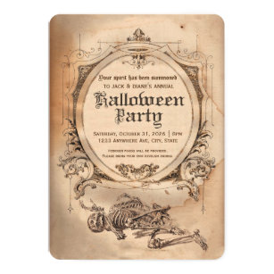 vintage halloween invitations zazzle