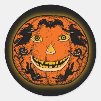 Vintage Halloween Jack O Lantern Sticker