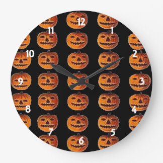 Vintage Halloween Jack o' Lantern Wall Clock