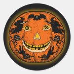 Vintage Halloween Jack O'Lantern Sticker