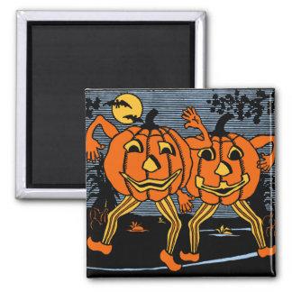 Vintage Halloween Jack O'Lantern Twins Magnet