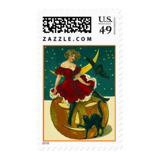Vintage Halloween JOL con el sello bonito del enma