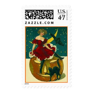 Vintage Halloween JOL w/ Pretty Masquerader Stamp