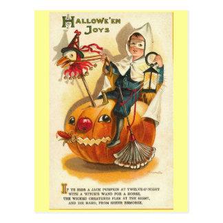 Vintage Halloween Joys Postcard