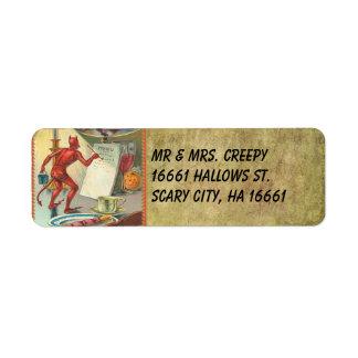 Vintage Halloween Label