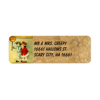 Vintage Halloween Custom Return Address Labels