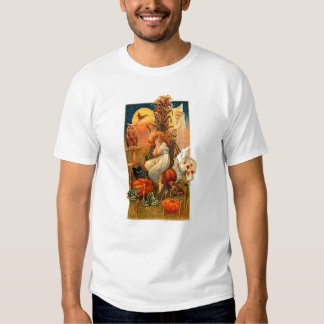 Vintage Halloween Lady Fall Clown Witch Party Tshirts