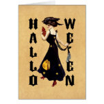 Vintage Halloween Lady Greeting Cards