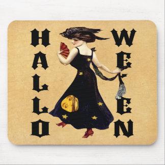Vintage Halloween Lady Mousepad