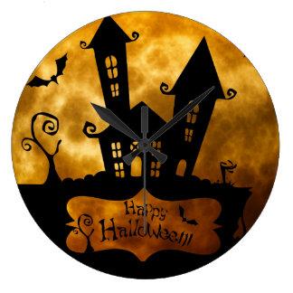 Vintage Halloween Large Clock