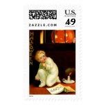 Vintage Halloween Large Postage Stamp