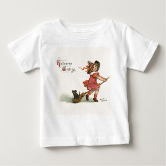 Vintage Halloween Little Witch Baby T-Shirt