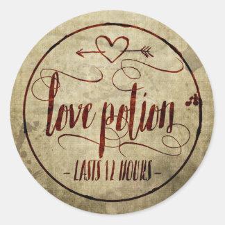 Vintage Halloween Love Potion Label