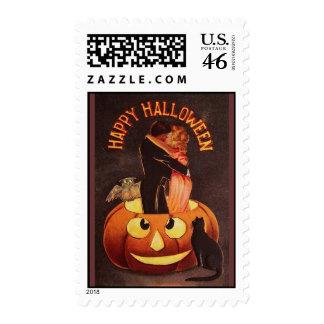 Vintage Halloween Lovers Postage