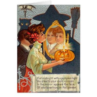 Vintage Halloween Magic Mirror Card