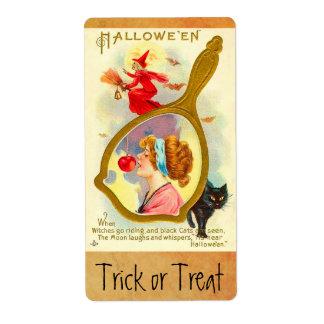 Vintage Halloween Magic Mirror Label
