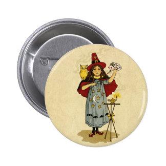 Vintage Halloween Magic Pinback Button