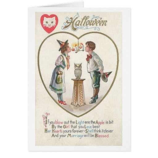 Vintage Halloween Marriage Blessing Greeting Card | Zazzle