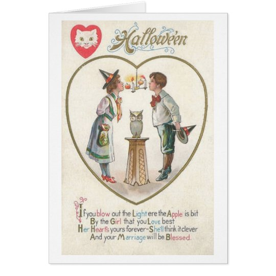 Vintage Halloween Marriage Blessing Greeting Card