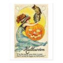 Vintage Halloween Mirror Card Post Cards