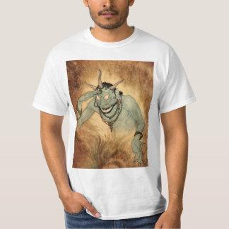 Vintage Halloween, monstruo espeluznante del Camisas