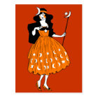 Vintage Halloween Moonlight Fairy Postcard
