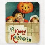 Vintage Halloween Mousepad Alfombrillas De Ratones