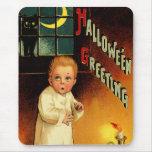 Vintage Halloween Mousepad Tapete De Raton