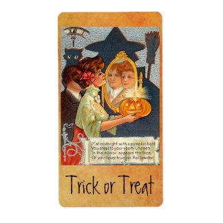 Vintage Halloween Myths Label