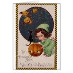 Vintage Halloween Night Greeting Card