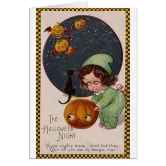 Vintage Halloween Night Greeting Card