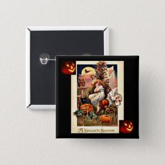 Vintage Halloween Nightmare Button