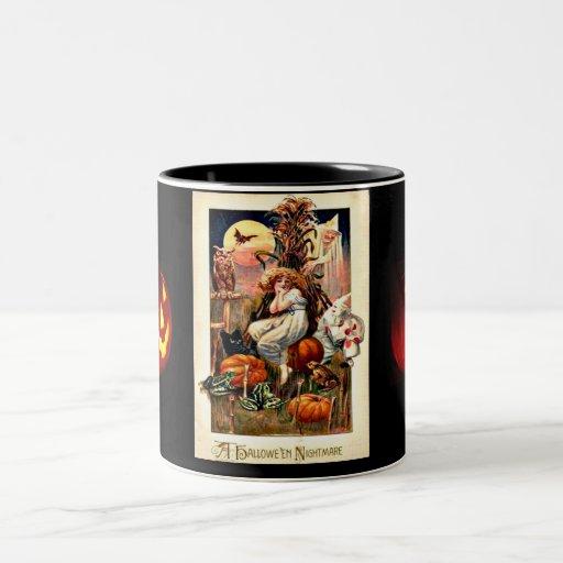 Vintage Halloween Nightmare Two-Tone Coffee Mug