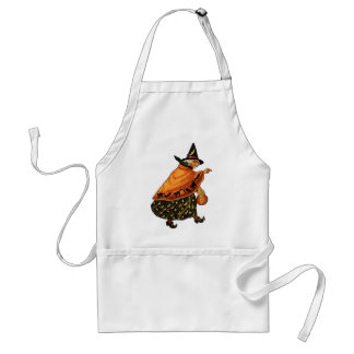 Vintage Halloween Old Witch Apron