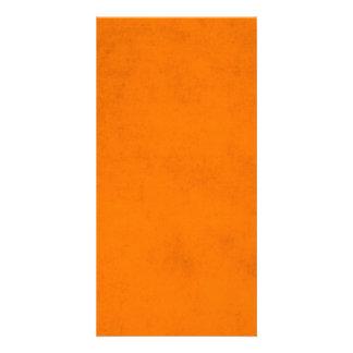 Vintage Halloween Orange Paper Background Card