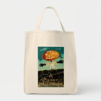 Vintage Halloween Organic Grocery Tote