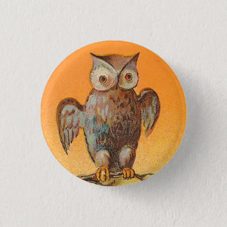Vintage Halloween Owl Button