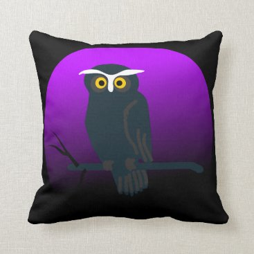 Halloween Themed Vintage Halloween Owl Throw Pillow