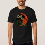 Vintage Halloween Owl Tickling the Moon T-Shirt
