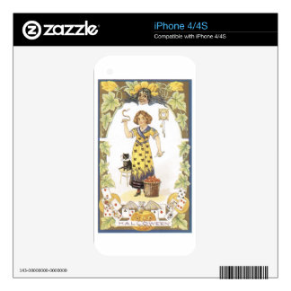 Vintage Halloween Painting Skins For The iPhone 4