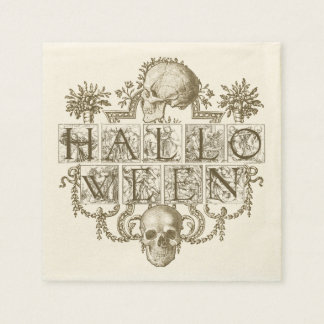 Vintage Halloween Paper Napkin