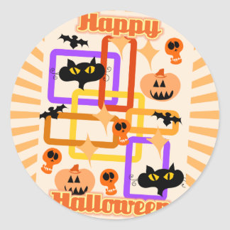 Vintage Halloween Party Basic Classic Round Sticker