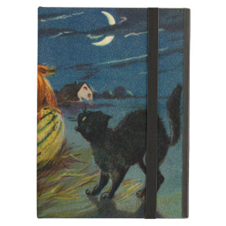 Vintage Halloween Party Black Cat Scary Pumpkins Case For iPad Air