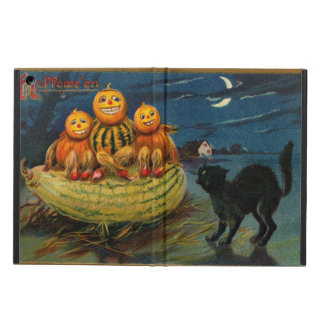 Vintage Halloween Party Black Cat Scary Pumpkins iPad Air Cases