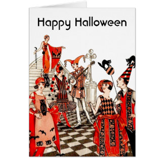 Vintage Halloween Party Greeting Card
