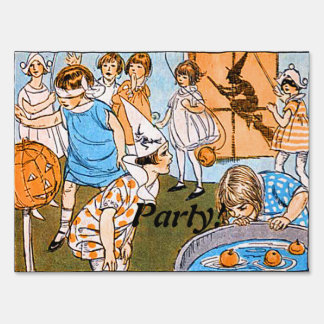 Vintage Halloween Party for Kids Sign