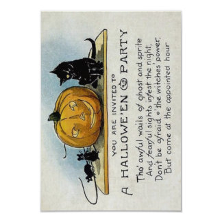 "Vintage Halloween Party Invitation 3.5"" X 5"" Invitation Card"
